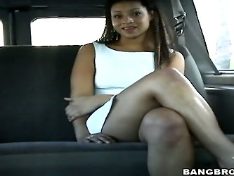Now that's someone damn sexy that we've got taking a ride in the Bang Bus tonight – give it up for curvaceous dark-skinned hottie Sinstar and fo