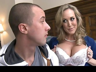 Brandi Love letting her stepson suck & fondle her big tits