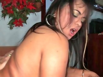 Chubby babe Cherry gets her tight ass and pussy ripped apart