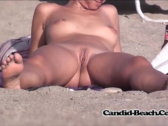 SUper Hot Tight Shaved Pussy Nudist Females Beach Voyeur Spy
