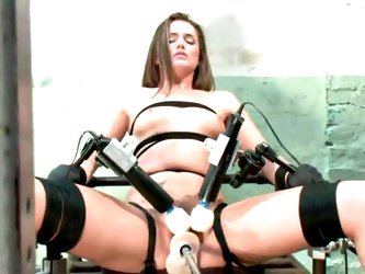 Tori Black Strapped To cumming shaged By device inside tied Vid