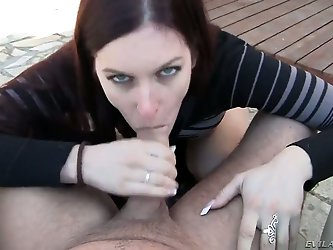 David Perry surprises us with his exciting and horny neighbor lady Mira C! She enjoys fucking and willingly came to demonstrate her skills in this POV