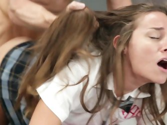 Rough fuck at school for young Cassidy Klein