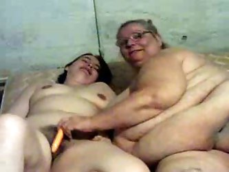 My skanky SBBW wife loves getting lesbo sometimes. Check out her disgusting obese body as she pokes that hairy pussy of her chubby coworker chick with